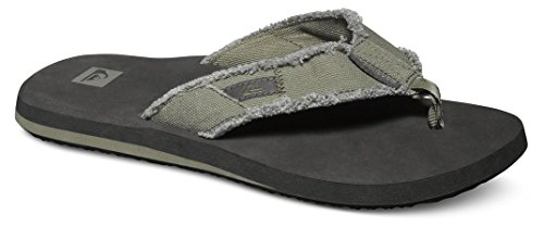 Quiksilver Herren Monkey Abyss - Sandals for Men Zehentrenner Schwarz (Green/Black/Brown XGKC) 45 EU