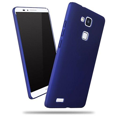 Apanphy Huawei Mate 7 Coque, [Haute Qualité] [Ultra Slim] [dur soyeux] [Scrub Shell] [Protection Totale] [contre peau] Coque pour Huawei Mate 7, Bleu