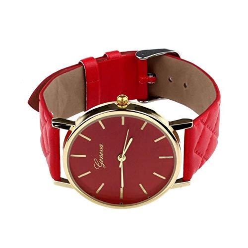 Reloj de Pulsera Moda de Ginebra Reloj de Cuero único de Moda Reloj de Banda Reloj de Vestir de Cuarzo...