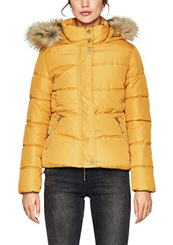 Q/S Designed by Damen Taillierte Steppjacke mit Fake Fur Amber XXL