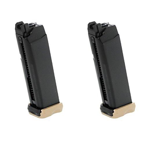 Airsoft Softair Ersatzteile 2pcs Packung APS 23rd Co2 Mag für Action Combat Pistole ACP 601 Schwarz / Dark Earth