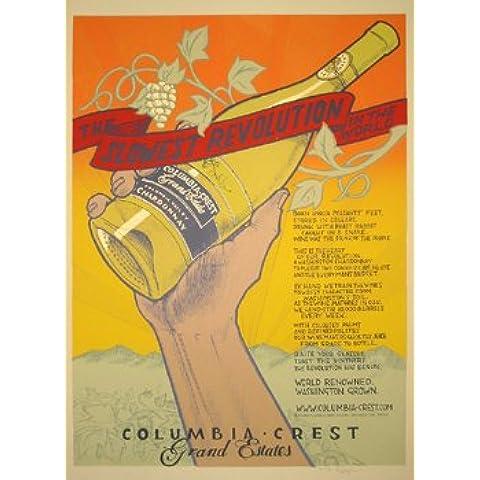 Columbia Crest cantina 2004Edizione Limitata seta protezione per musica Poster by Jay Ryan originale firmato e