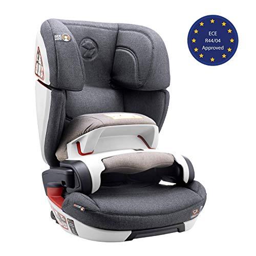 Seggiolino Auto Gruppo 1/2/3, Isofix, con Protezione d'Impatto, Norma ECE R44/04 (Sicurezza per Bambini 9-36kg) - Seggiolino Auto 9-36 kg Isofix, Rialzo Macchina Bimbo - Seggiolini Auto Reclinab