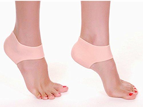 Careforyou® Calzino in silicone con gel idratante per tallone, unisex, allevia il dolore del piede, protegge la pelle da screpolature