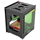 1500mW 550x550 Pixel Laser Stampante per Incisione Artigianato per Uso Domestico Artigiano Fai Da Te, Mini Incisione per Stampa USB senza Fili da Bluetooth4.0 per iOS/Android/PC Windows