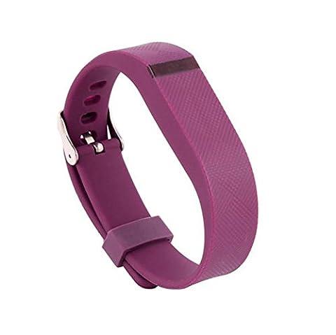 Bracelet 16mm, Happytop montre de remplacement de gel de silice Bracelet Bracelet Bracelet de montre bracelet pour Fitbit Flex S violet