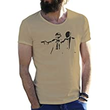Friendly Bees Daft Punk Rap Electro Group Arena Beige Camiseta para Hombre Large