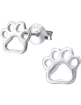 Laimons Kids Kinder-Ohrstecker Kinderschmuck Hundepfote glanz Sterling Silber 925
