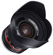 Rokinon 12mm F2.0 NCS CS Ultra Wide Angle Fixed Lens for Olympus and Panasonic Micro 4/3 (MFT) Mount Digital C