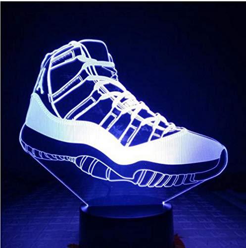 Michael Jordan 11 Turnschuhe Nachtlicht Led 3D Illusion Dekorative Lichter Kind Kinder Tischlampe Schuhe Männer Fernbedienung