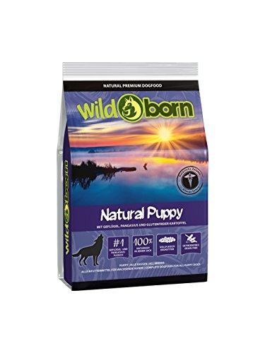 WILDBORN Hundefutter NATURAL PUPPY 2kg getreidefreies Welpenfutter für alle Hunde bis 1.Jahr