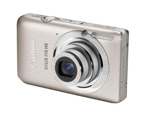Canon IXUS 115 HS Digitalkamera (12 MP, 4-fach opt. Zoom, 7,6cm (3 Zoll) Display, Full HD, bildstabilisiert) silber -