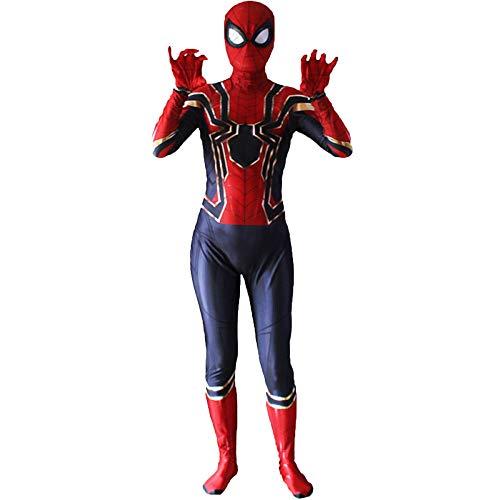 JUFENG Spiderman Kostüme Erwachsene Kinder Drucken 3D Bodysuit Overall - Man Cosplay ()