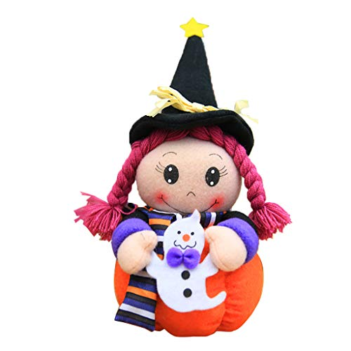 Gjyia Halloween-Stand-Hexe-Kürbis-Puppe-Hauptpartei-Verzierungs-Atmosphäre-Requisiten-Tischplatte C 28 x 14 (Halloween Hexe Requisiten)