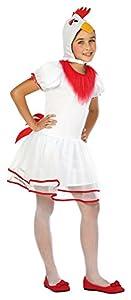 Atosa-24186 Disfraz Gallina, Color Blanco, 10 a 12 años (24186