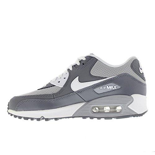 Nike Air Max 90 Mesh (Gs) Scarpe da ginnastica, bambini Wolf Grey/White-Cool Grey