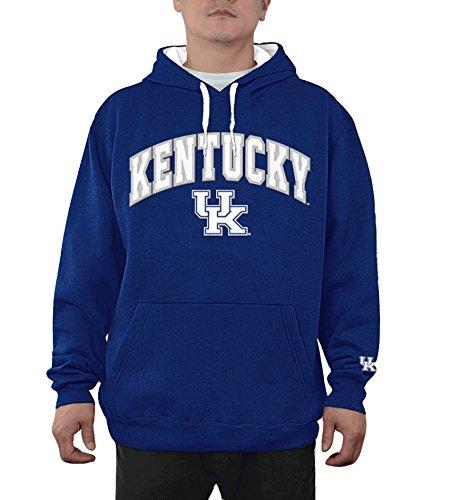 eLITe NCAA Herren Kapuzen-Sweatshirt, Teamapplikation, Bogen, Herren, Hoodie Sweatshirt Team Applique Arch, Kentucky Wildcats Royal, Large - Wildcats Uk Pullover