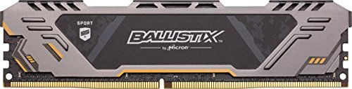 Ballistix Sport AT BLS16G4D30CEST - Memoria DDR4 de 16 GB para Juegos (3000 MT/s, PC4-24000, Dual Rank x8, DIMM, 288-Pin)