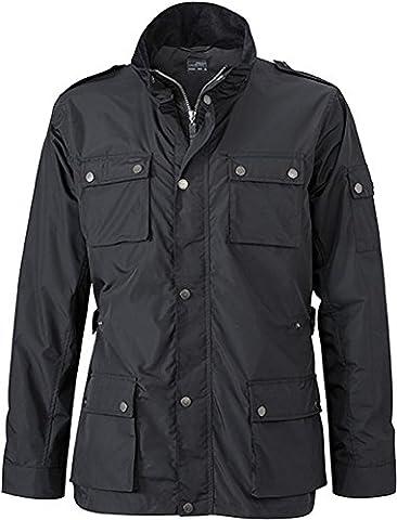 JN1056 Men's Urban Style Jacket Stylische Jacke für Business und Freizeit XL,Black