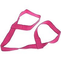 Shuzhen,Correa Ajustable de la Yoga de la Correa de la Honda de la Yoga del algodón de la Correa(Color:Rosa Profundo)