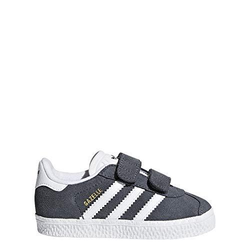 Adidas Gazelle CF I, Zapatillas de Estar por casa Bebé Unisex, Gris Grpudg/Ftwbla/Ftwbla 000, 19...