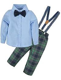 d687b3493 BIG ELEPHANT Baby Boys 3 Piece Formal Suit Dresses Shirt Pants Clothing Set  Black E16 Baby ...