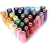 SUPVOX Hilo de coser 30 piezas Hilos de acolchado Hilos de poliéster Cuerdas (color aleatorio)