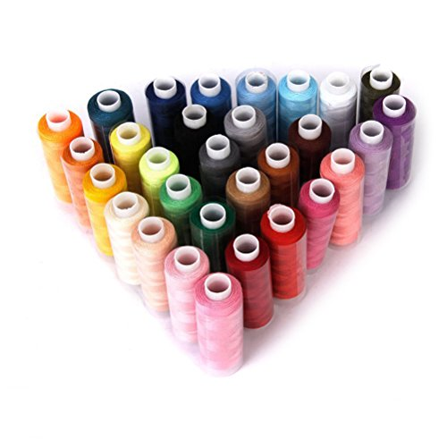Pixnor Nähgarn Polyester Multi Farben Set Nähgarn-Sortiment-Set 30pcs zufällige Farbe