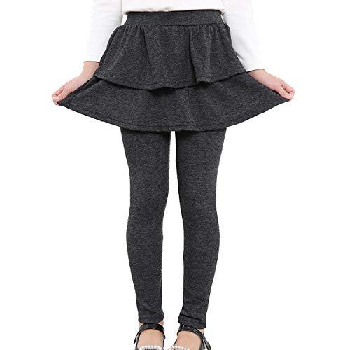 Adorel Leggings Falda Pantalones Largos Niñas Gris