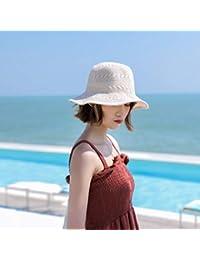 RDFYM Nuova Moda Donna Pescatore Berretto Primavera Estate Tinta Unita  Ampia Visiera Protezione UV Cappello da 745118a78441