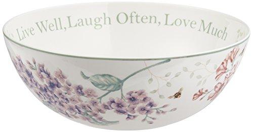 Lenox Löffelablage, Schmetterlingswiese, 2-1,3 cm Servierschale 68-oz. weiß 68 Oz Jar