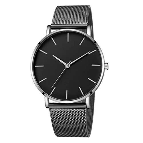 Armbanduhren männer Herrenuhr Herren Luxusuhren Quarzuhr Edelstahl Zifferblatt Casual Bracele UhrArmbanduhr Uhren armbanduh D