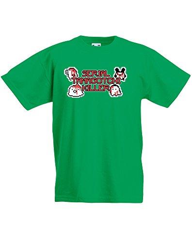 Serial Tamagotchi Killer, T-shirt bambini - Verde 5-6 Anni