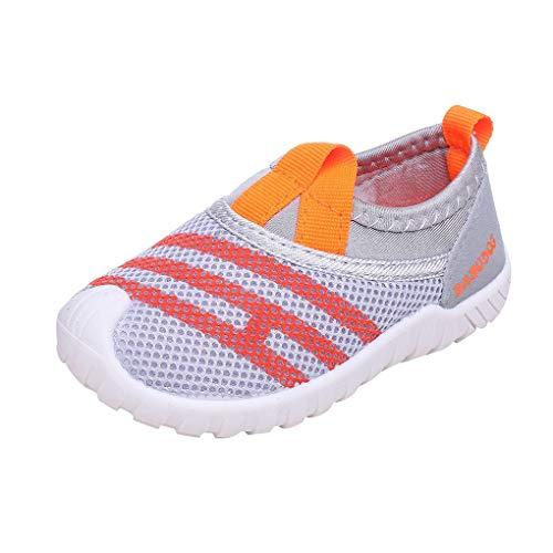 Dorical Unisex Babyschuhe Kinder Mesh Schuhe Kleinkind Schuhe,Jungen Mädchen Sommer Atmungsaktiv Lauflernschuhe Sportschuhe Freizeitschuhe Sneaker Krabbelschuhe mit Weiche Sohle(Grau-1,31 EU)
