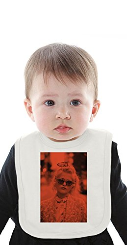 Sky Ferreira In Red Organic Baby Bib With Ties Medium