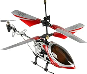 Fun2Get REH46112-1 - RC Hubschrauber Mini Helikopter Falcon-X Metal RTF mit Gyro-Technologie, rot