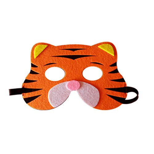 Cartoon Animaux moitié Visage Enfants Masque Journée des Enfants Anniversaire Dress Up Costume Masque Zoo Jungle Party Supplies fgyhty (Ideen Up Dress Cartoon)