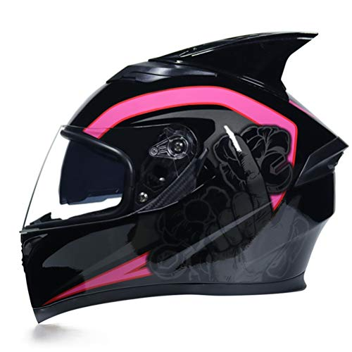 Casco moto antiappannamento mod. Double Lens Stagioni Mountain Mountain Bike Motocross Tappi di sicurezza Abs Materiale integrale Caschi da gara Off Road Racing