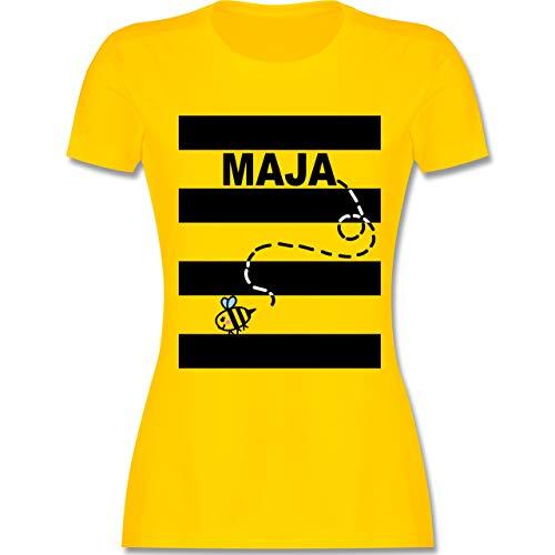 Karneval & Fasching - Bienen Kostüm Maja - XXL - Gelb - L191 - Damen Tshirt und Frauen T-Shirt (Damen Lustig Kostüm)