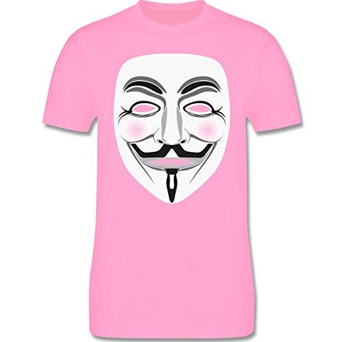 Nerds & Geeks - Anonymous Maske Hacker - Herren Premium T-Shirt Rosa