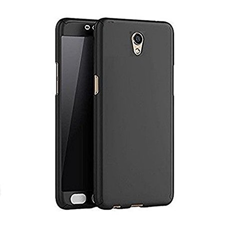 Dream2Cool 360 Degree iPaky Style Full Body Protection Front & Back & Tempered Glass Case Cover for Vivo Y21L (Black)