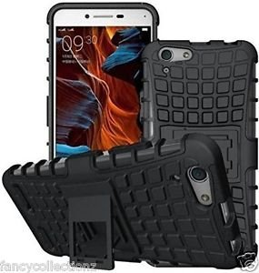 HRV Defender Stylish Hard Back Armor Shock Proof Case Cover with Back Stand Feature for Vivo Y51L