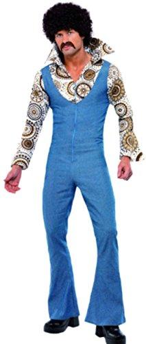 roovy Dancer Disco 70er Jahre Outfit Kostüm, XL, Mehrfarbig (Herren Groovy Dancer Kostüm)