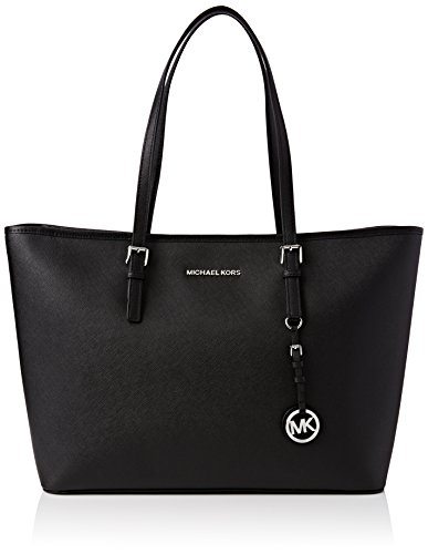 Michael Kors Jet Set Medium Travel, Bolso Totes para Mujer, Negro (Black), 12.7x29.2x43.2 cm (B x H x T)
