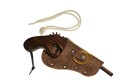 Juguetutto - Pistola de madera con funda CAMEL / MARRON - Juguete de madera ...