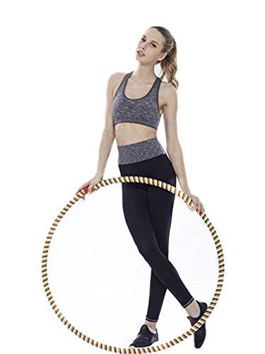 YeeHoo Mujer Tracksuit Yoga Fitness Seamless Racerback Bra + pantalones conjuntos de entrenamiento Deportes Ropa