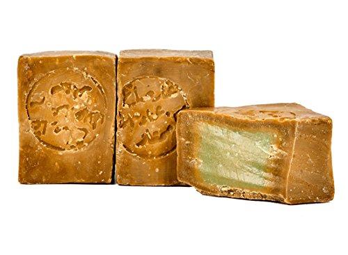 Carenesse Original Aleppo Seife 2 x 200 g, 55% Lorbeeröl und 45% Olivenöl, Naturseife in Handarbeit nach altem Traditionsrezept und langer Reifezeit