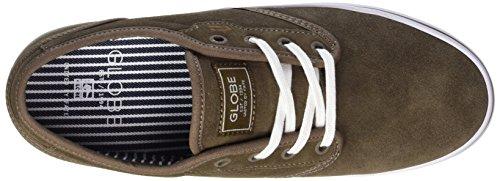 Branco Verdes Sapatos Nogueira Homens Heterogéneo Globo Skate marron 07AnvF0qx