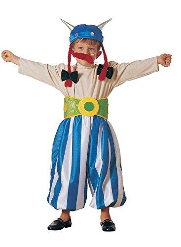 Halloween 2017 Mädchen Kostüme Ein Mächtiger (Kinder-Gallier-Kostüm wie Obelix und Zopf-Helm-Mütze,)