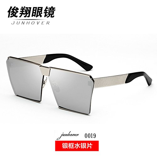 die neuen sonnenbrille weibliche koreanischen star mit langem gesicht bunte gläser frame sonnenbrille persönlichkeit trendsetter moonfaced,gerahmte quecksilber folie